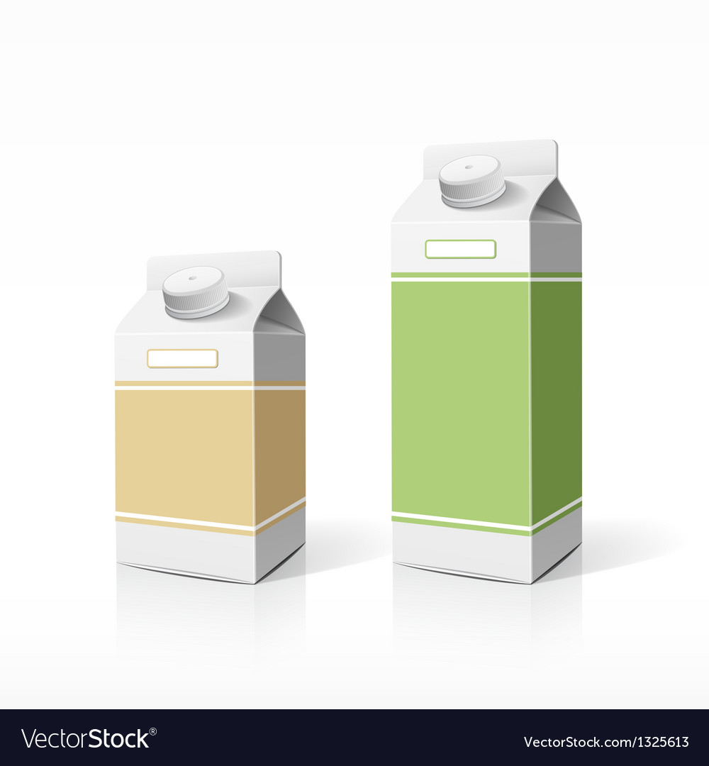 Colorful milk box packaging template vector | Price: 1 Credit (USD $1)