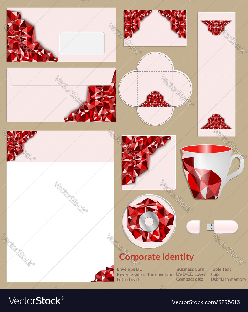 Design of corporate identity abstrakt red vector | Price: 1 Credit (USD $1)