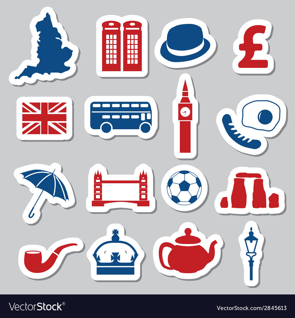 England stickers vector | Price: 1 Credit (USD $1)