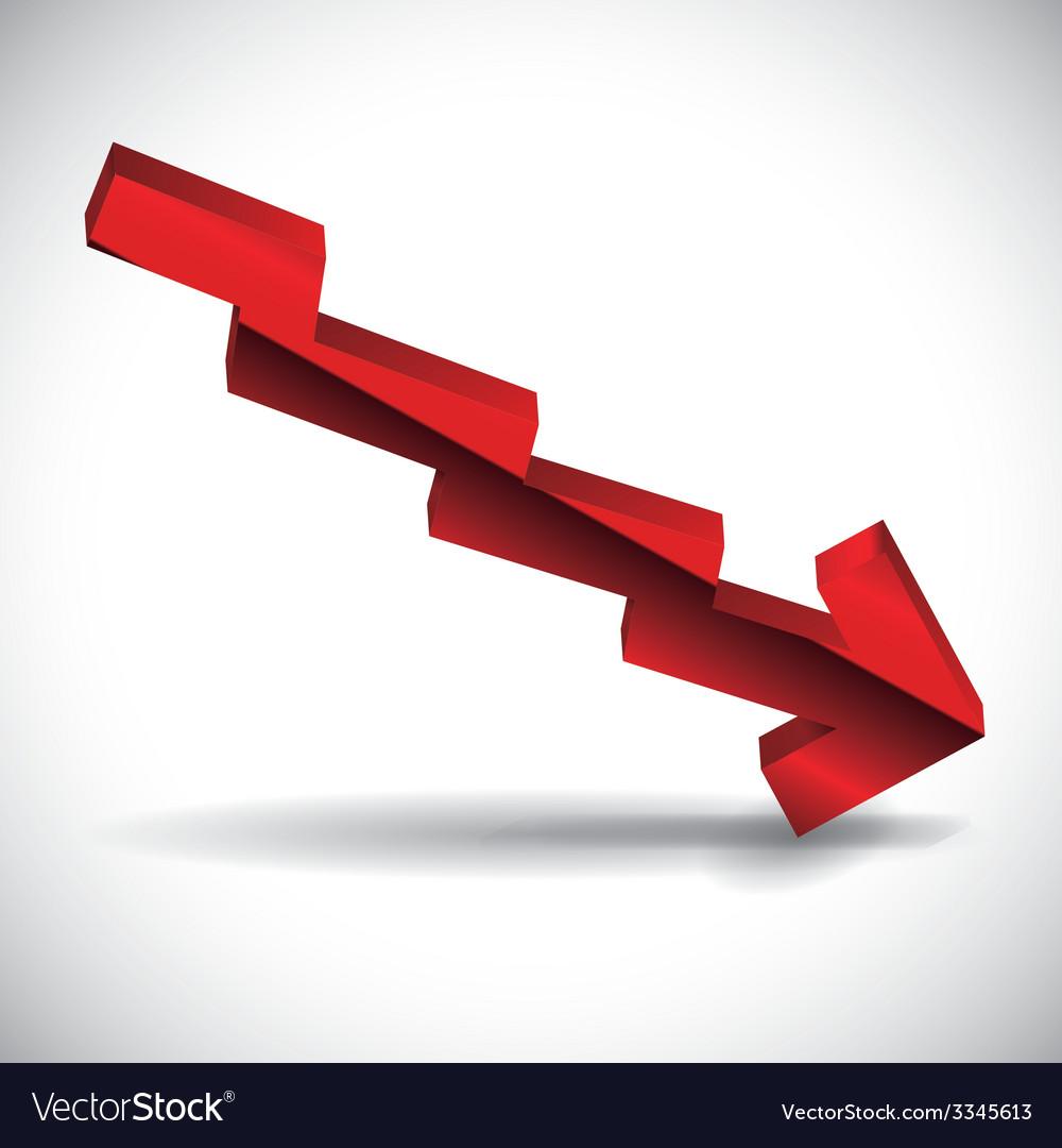 Financial crisis design vector | Price: 1 Credit (USD $1)