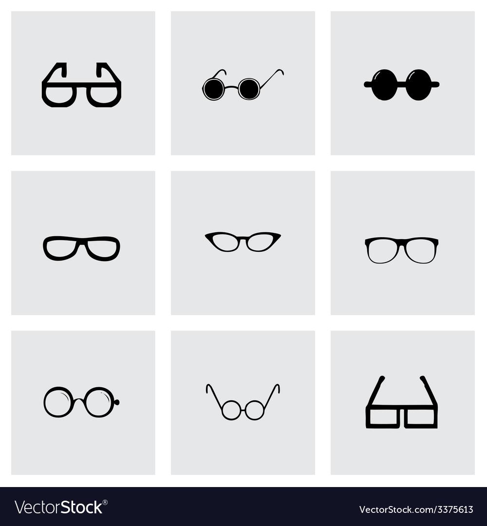 Glasses icon set vector | Price: 1 Credit (USD $1)