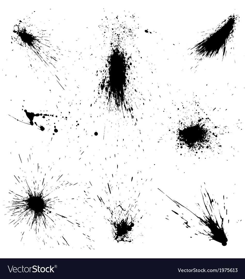 Ink splashes vector | Price: 1 Credit (USD $1)