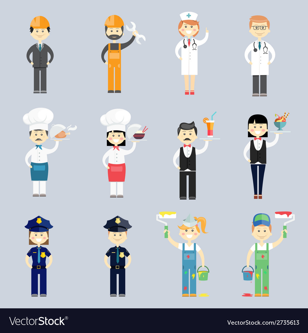 Male and female professional character set vector   Price: 1 Credit (USD $1)