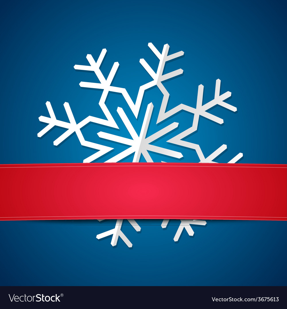 Paper snowflake on colored background vector | Price: 1 Credit (USD $1)