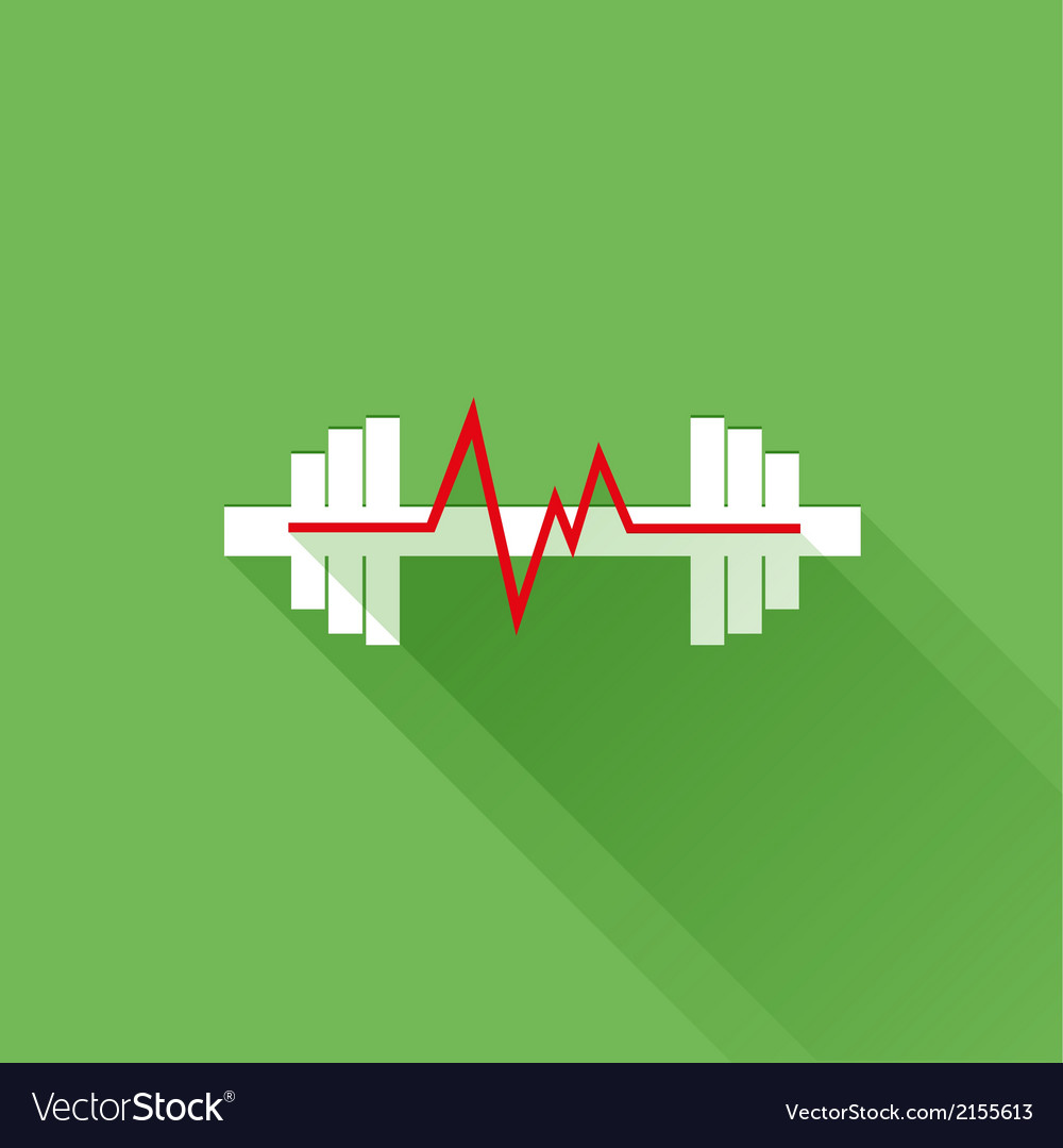 Sports heart rate flat icon vector | Price: 1 Credit (USD $1)