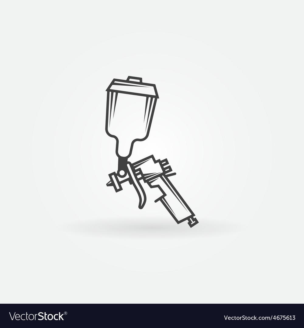 Spray gun logo vector | Price: 1 Credit (USD $1)