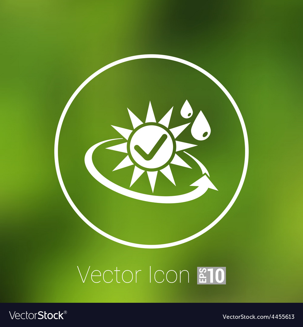 Sun protection block icon sunblock skin isolated vector | Price: 1 Credit (USD $1)
