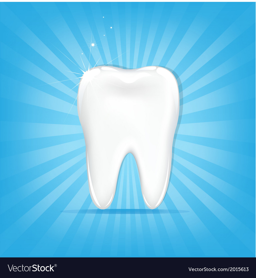 Tooth with sunburst vector | Price: 1 Credit (USD $1)