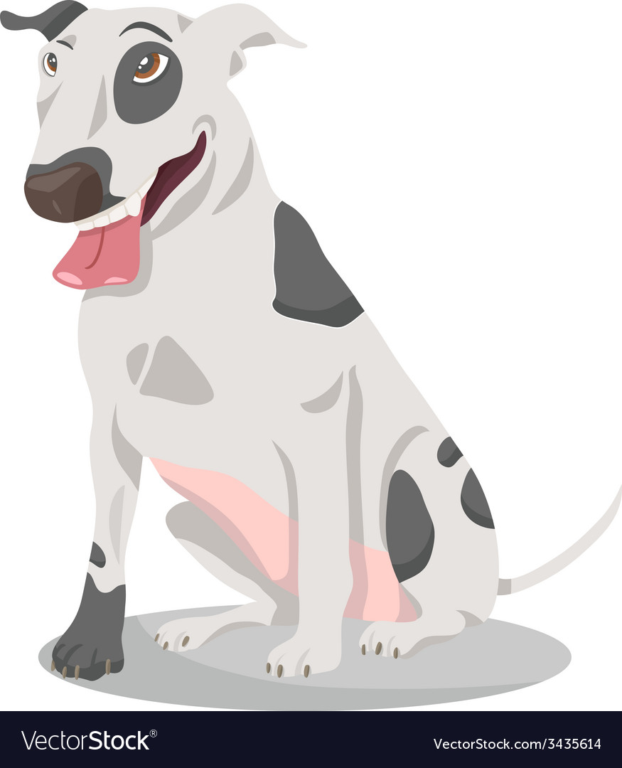 Bull terrier dog cartoon vector | Price: 1 Credit (USD $1)
