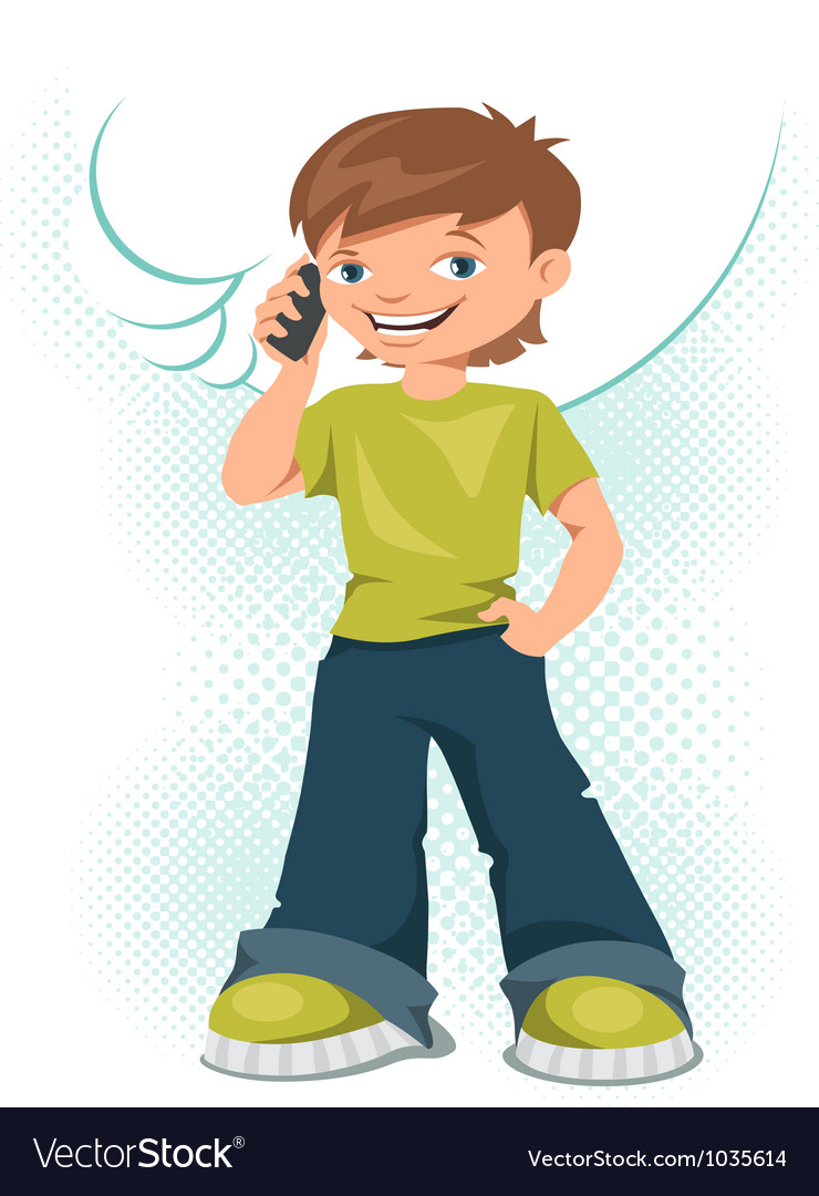 Cell phone teen vector | Price: 1 Credit (USD $1)