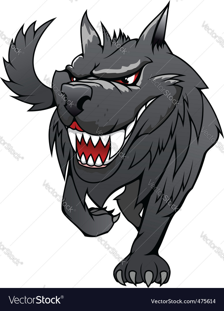 Danger wolf vector | Price: 1 Credit (USD $1)
