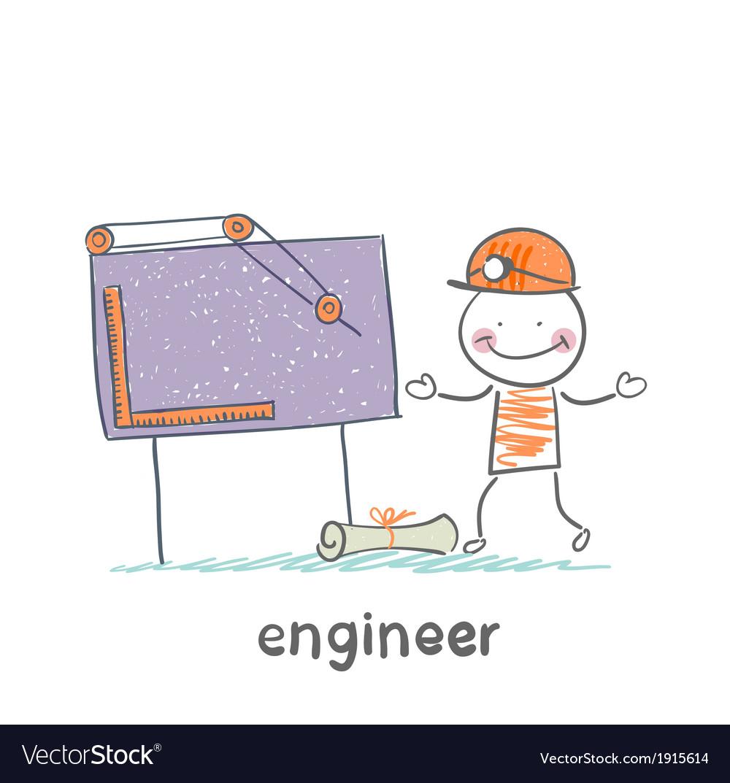 Engineer sketched on a blackboard vector | Price: 1 Credit (USD $1)