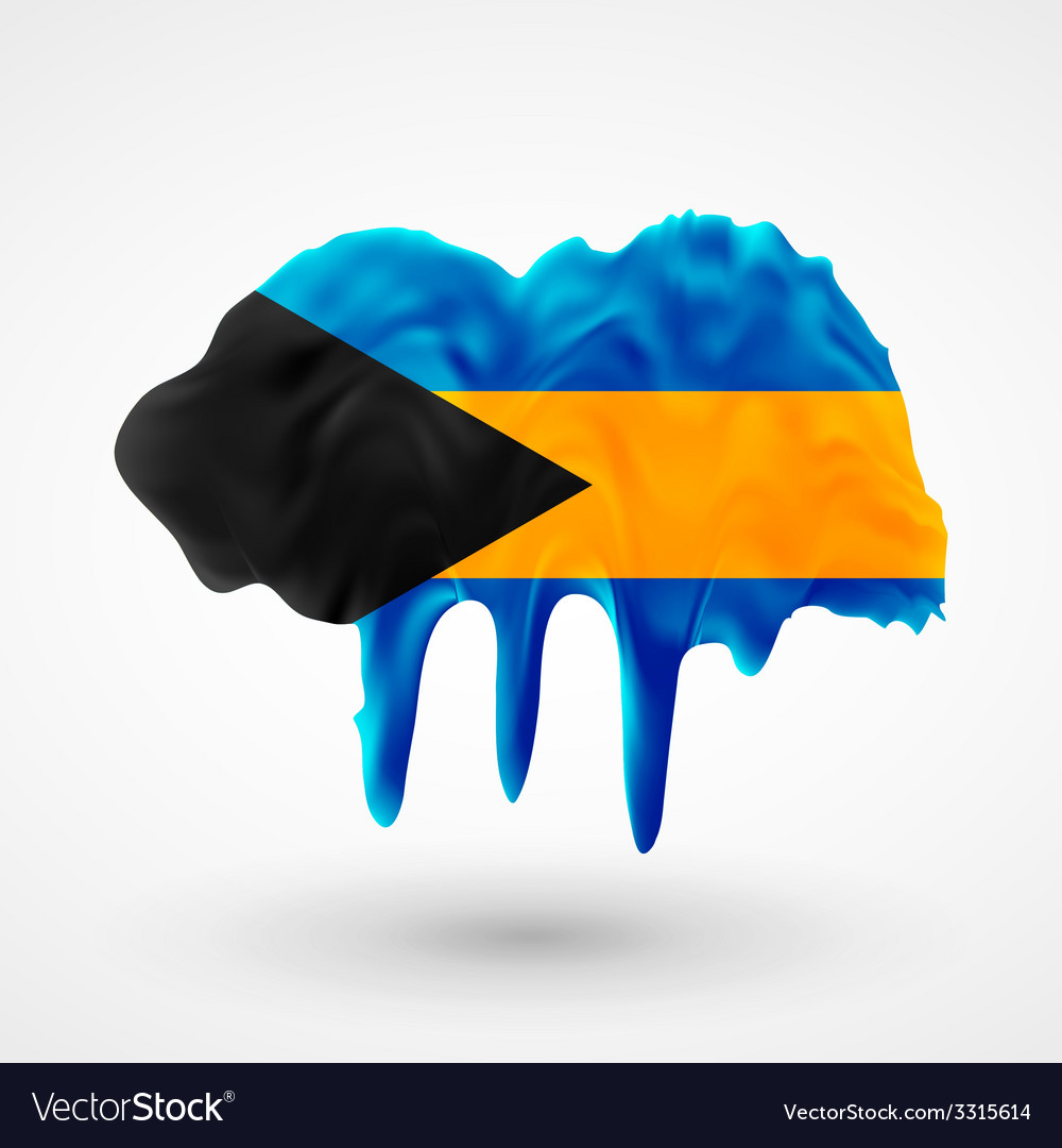 Flag of bahamas painted colors vector | Price: 1 Credit (USD $1)
