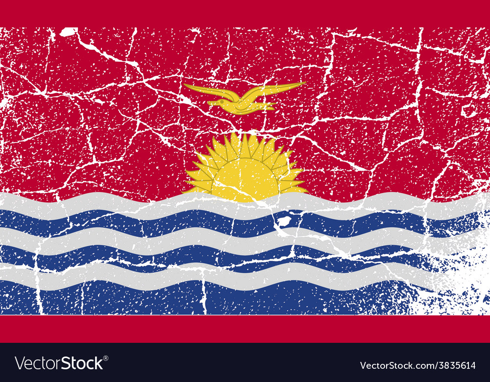 Flag of kiribati with old texture vector | Price: 1 Credit (USD $1)