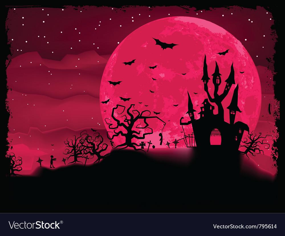 Halloween zombie poster vector | Price: 1 Credit (USD $1)