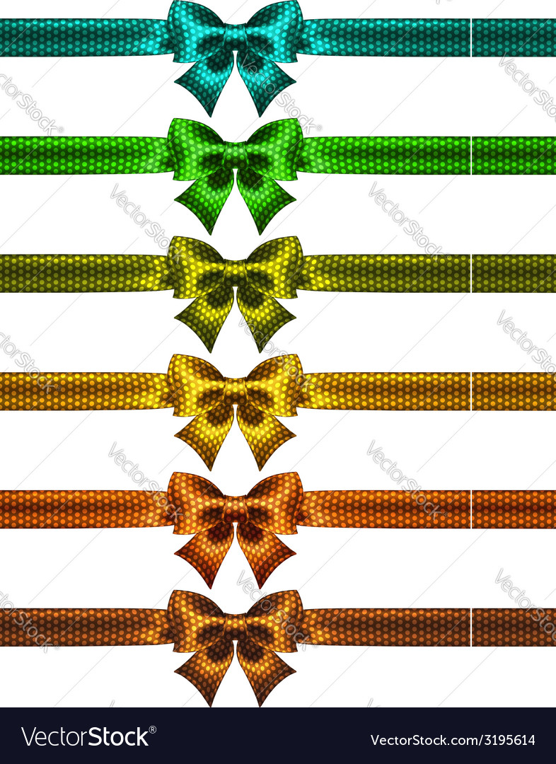 Holiday polka dot bow knots with ribbons vector | Price: 1 Credit (USD $1)