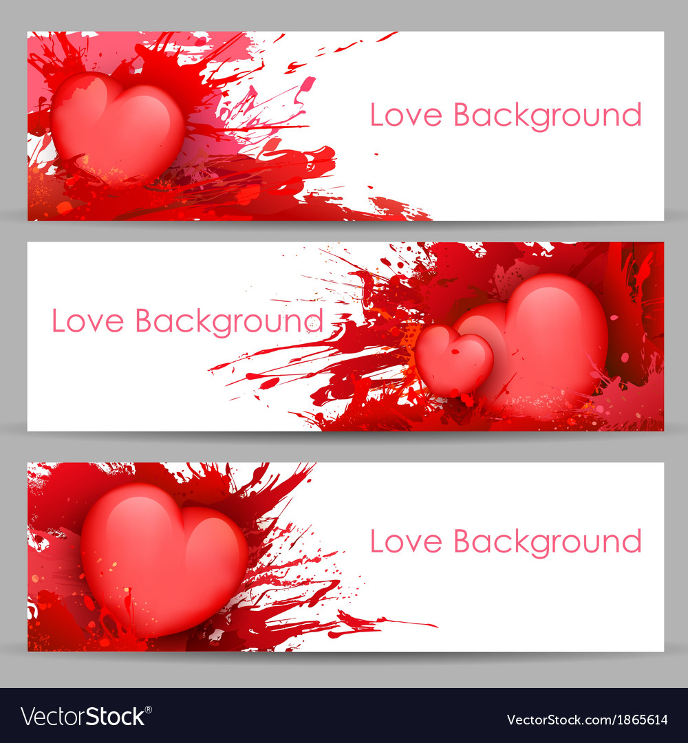 Love banner for valentines day vector | Price: 1 Credit (USD $1)