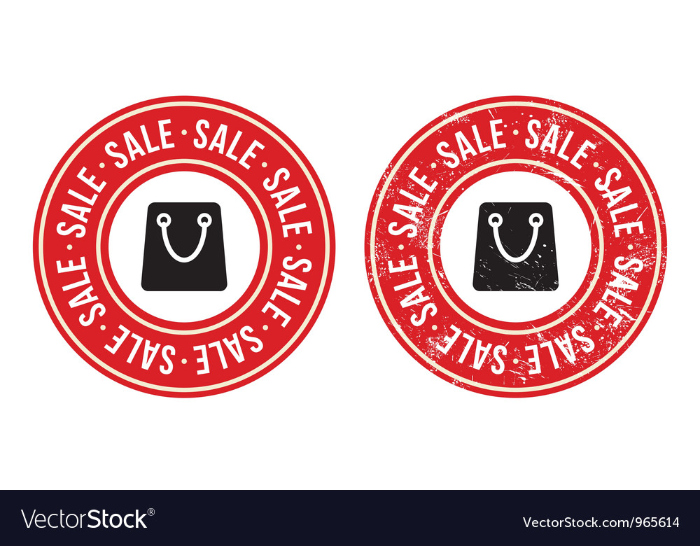 Sale retro grunge badges vector | Price: 1 Credit (USD $1)