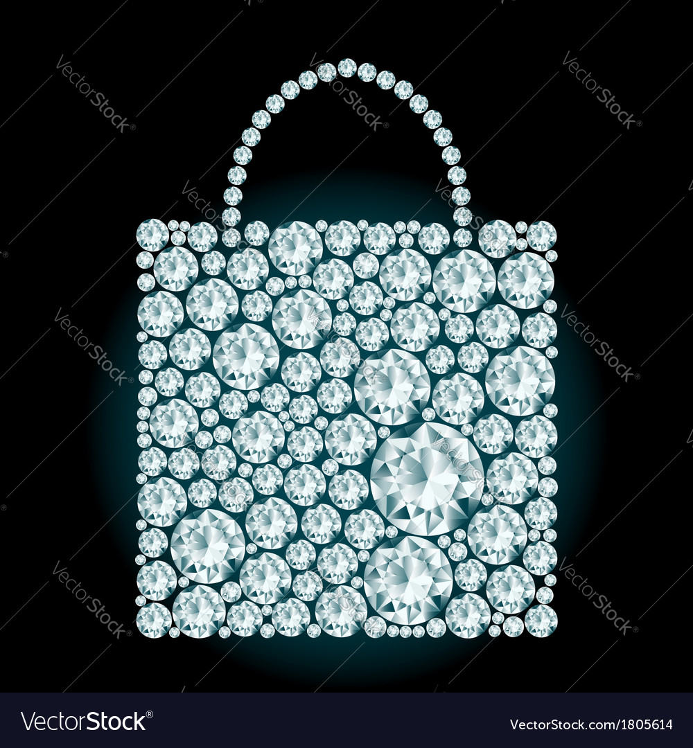 Shopping bag made of diamonds vector | Price: 1 Credit (USD $1)