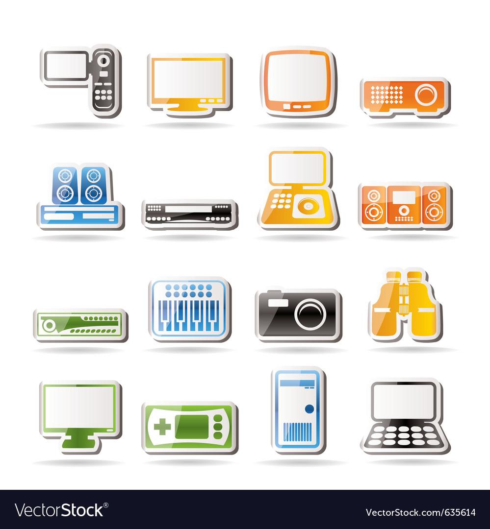 Simple hi-tech equipment icons vector   Price: 1 Credit (USD $1)