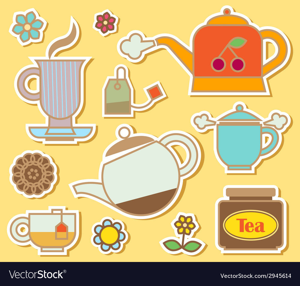 Teatime vector | Price: 1 Credit (USD $1)