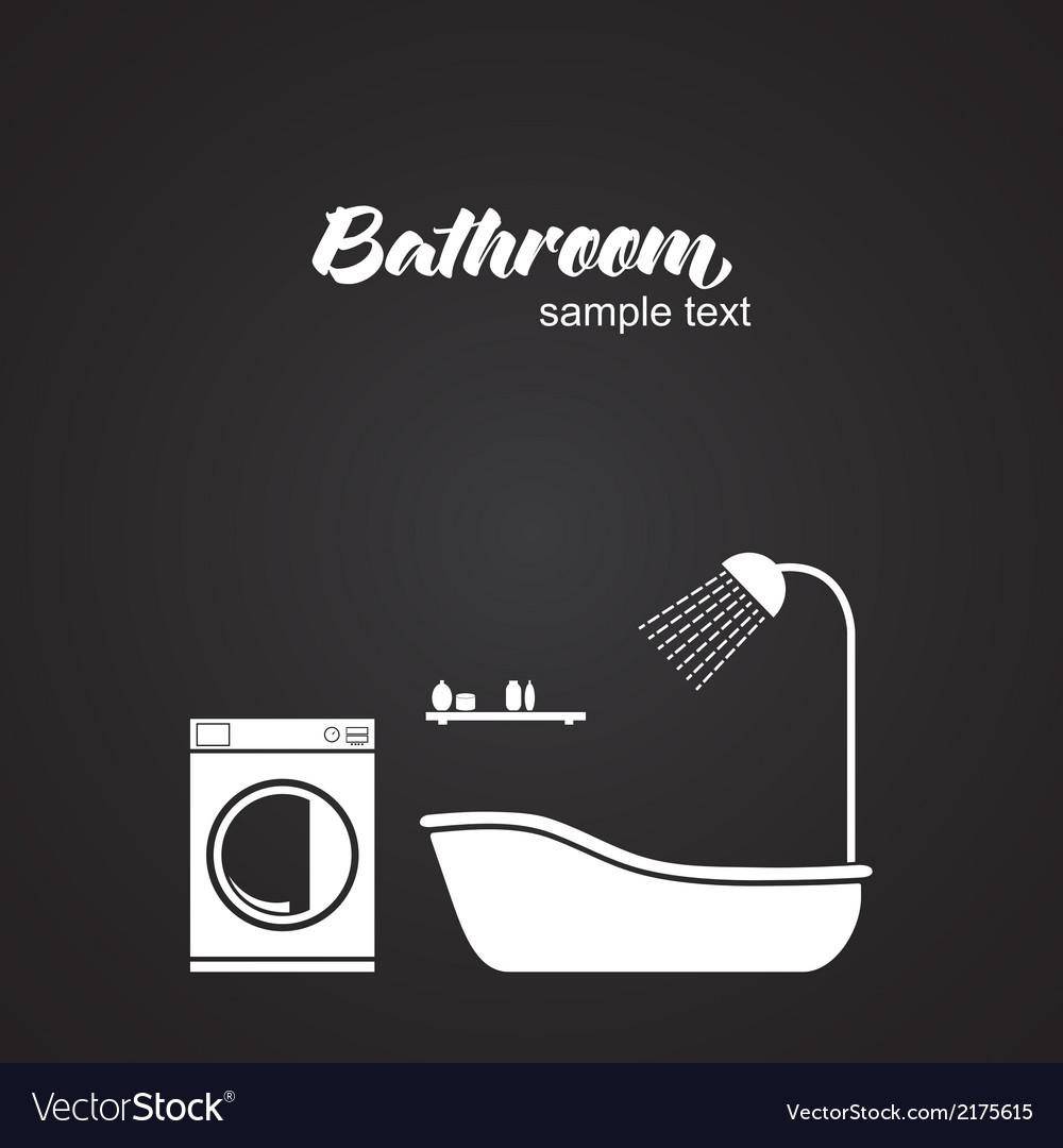 Bathroom interior vector | Price: 1 Credit (USD $1)