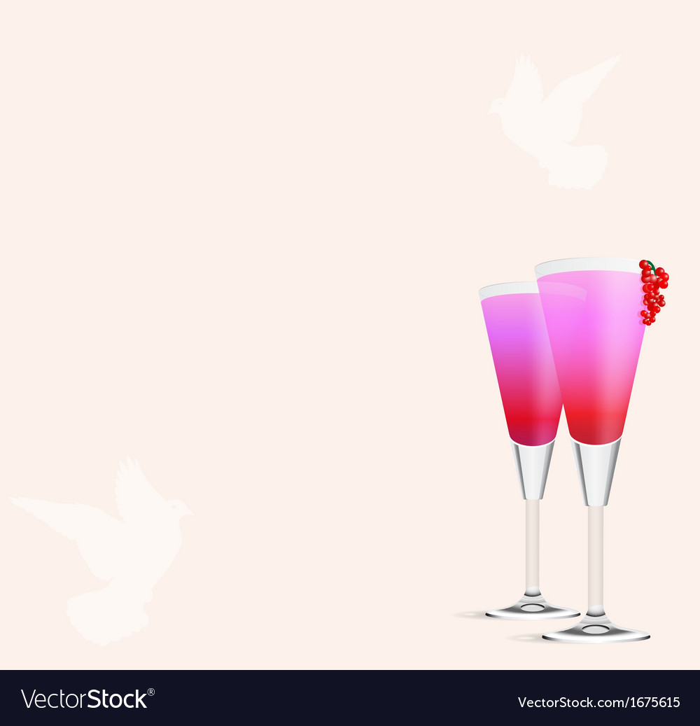 Cocktail romance vector | Price: 1 Credit (USD $1)