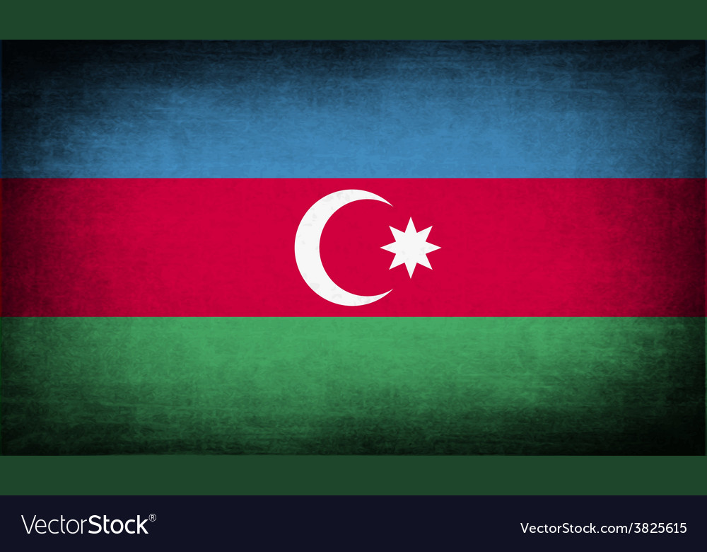 Flag of azerbaijan with old texture vector | Price: 1 Credit (USD $1)