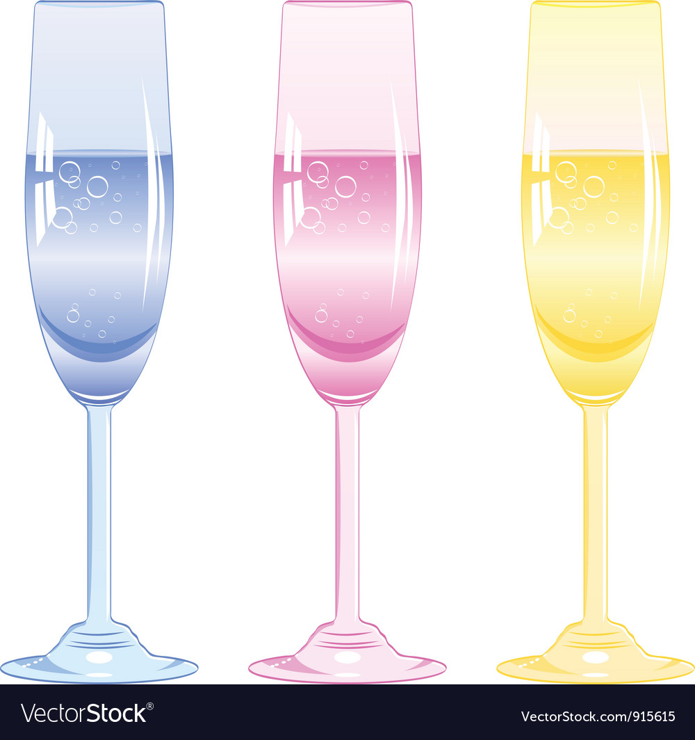 Glasses of fizzy drink vector | Price: 1 Credit (USD $1)