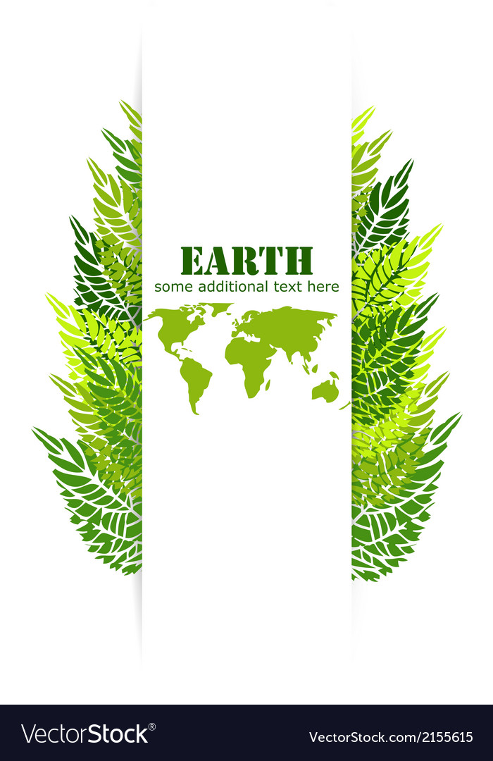 Green leaves earth background vector | Price: 1 Credit (USD $1)