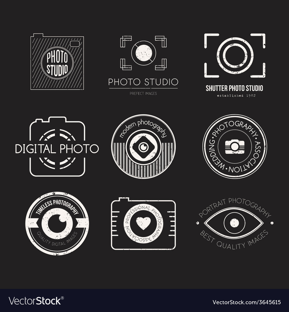 Photography logos vector | Price: 1 Credit (USD $1)