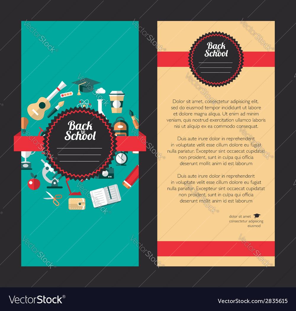 School flat design flyer templates vector   Price: 1 Credit (USD $1)