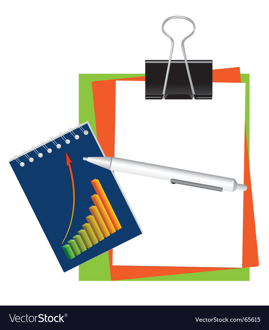 Stationery for office and school vector | Price: 1 Credit (USD $1)