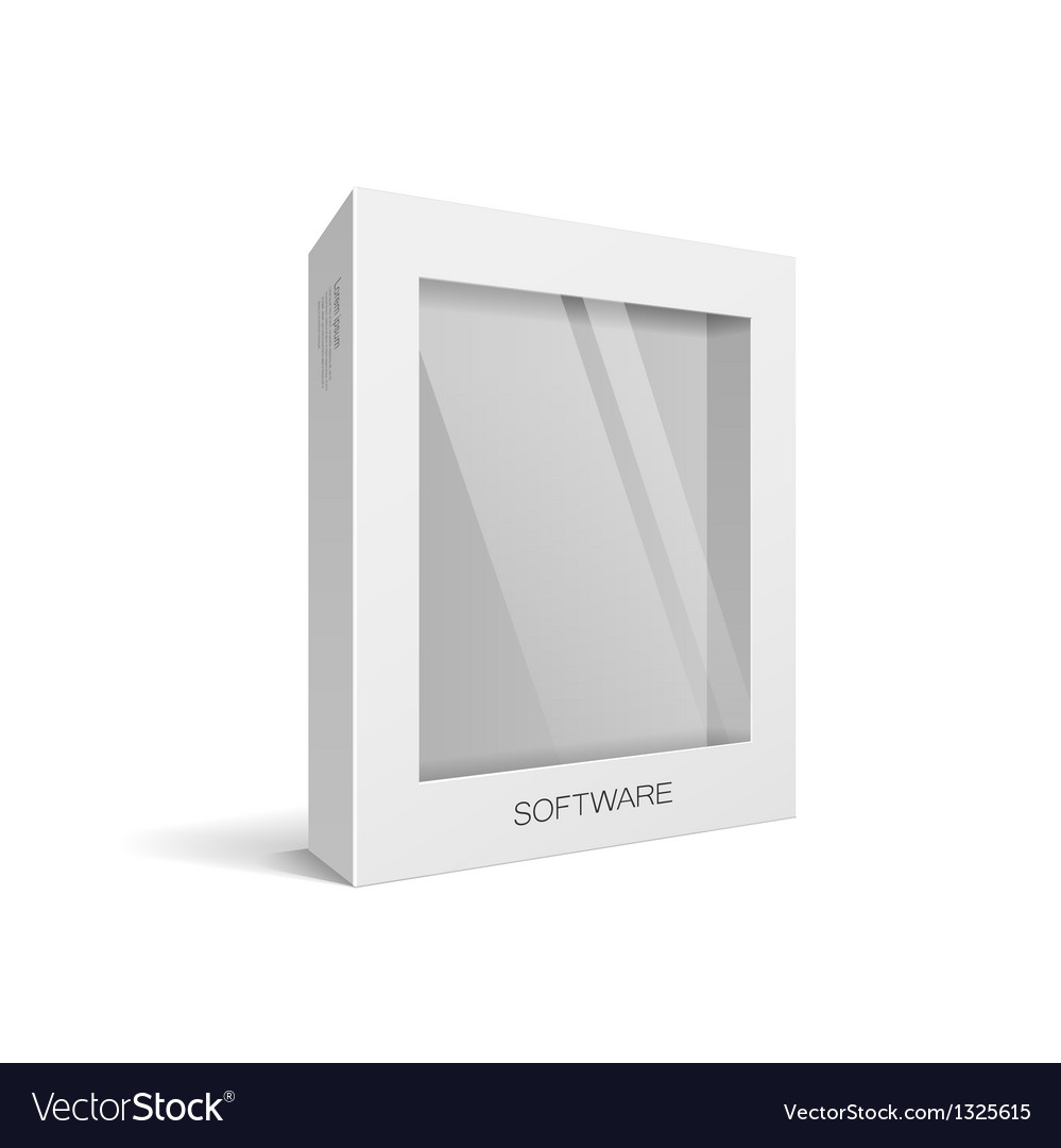 White box packaging vector | Price: 1 Credit (USD $1)