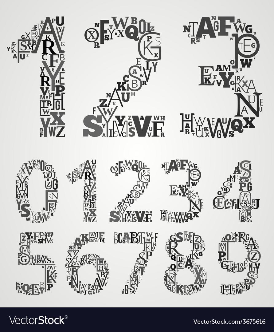 Alphabet numbers set vector   Price: 1 Credit (USD $1)