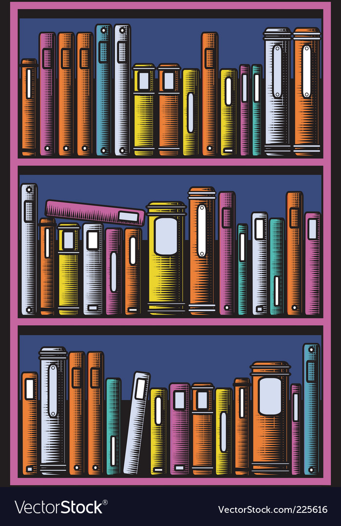 Bookcase vector | Price: 1 Credit (USD $1)