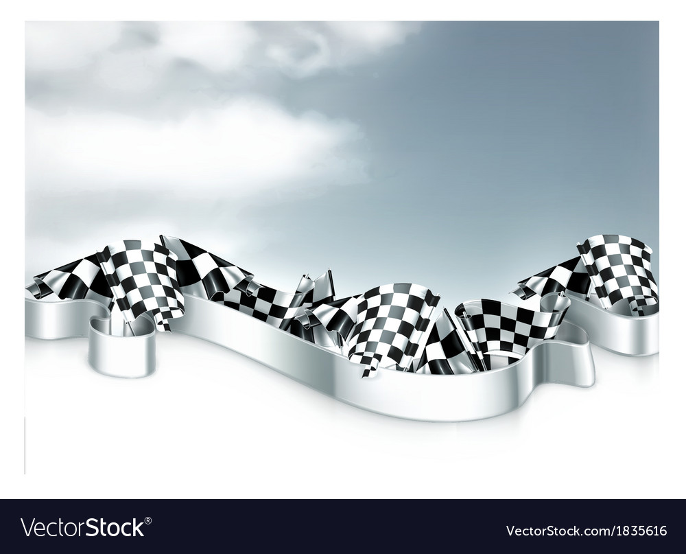 Checkered flags background vector | Price: 1 Credit (USD $1)