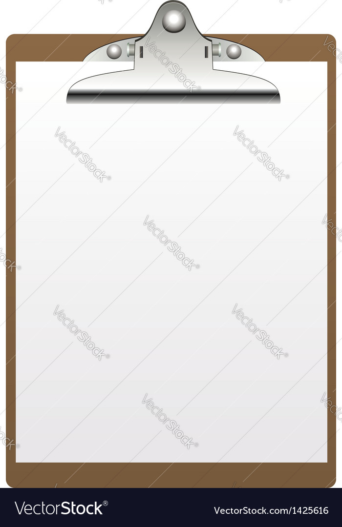 Clipboard and paper vector | Price: 1 Credit (USD $1)
