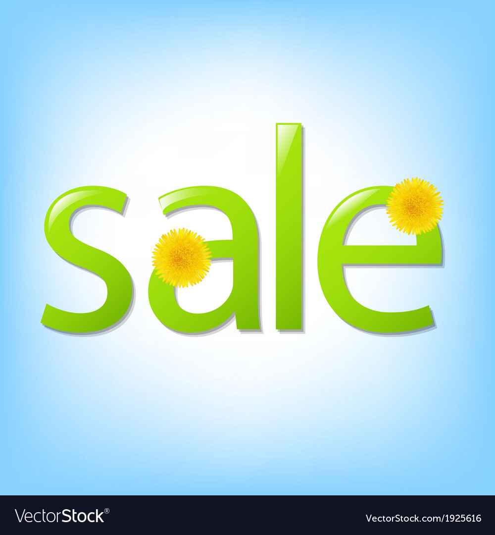 Flowers sale poster vector | Price: 1 Credit (USD $1)
