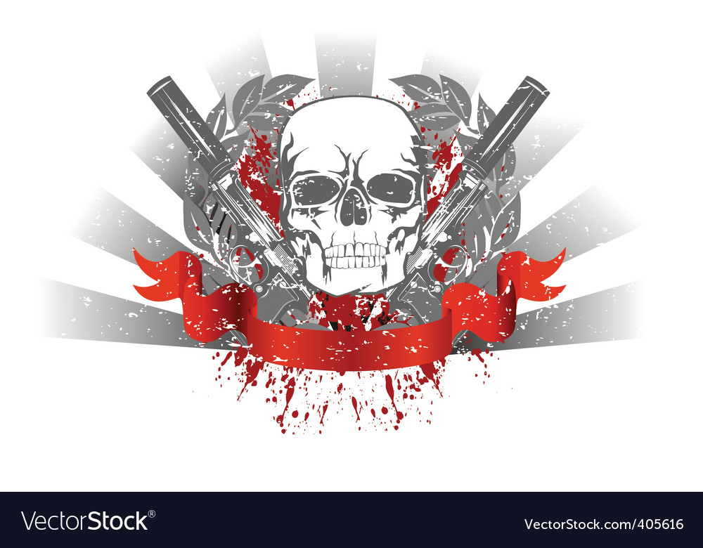 Grunge skull vector | Price:  Credit (USD $)