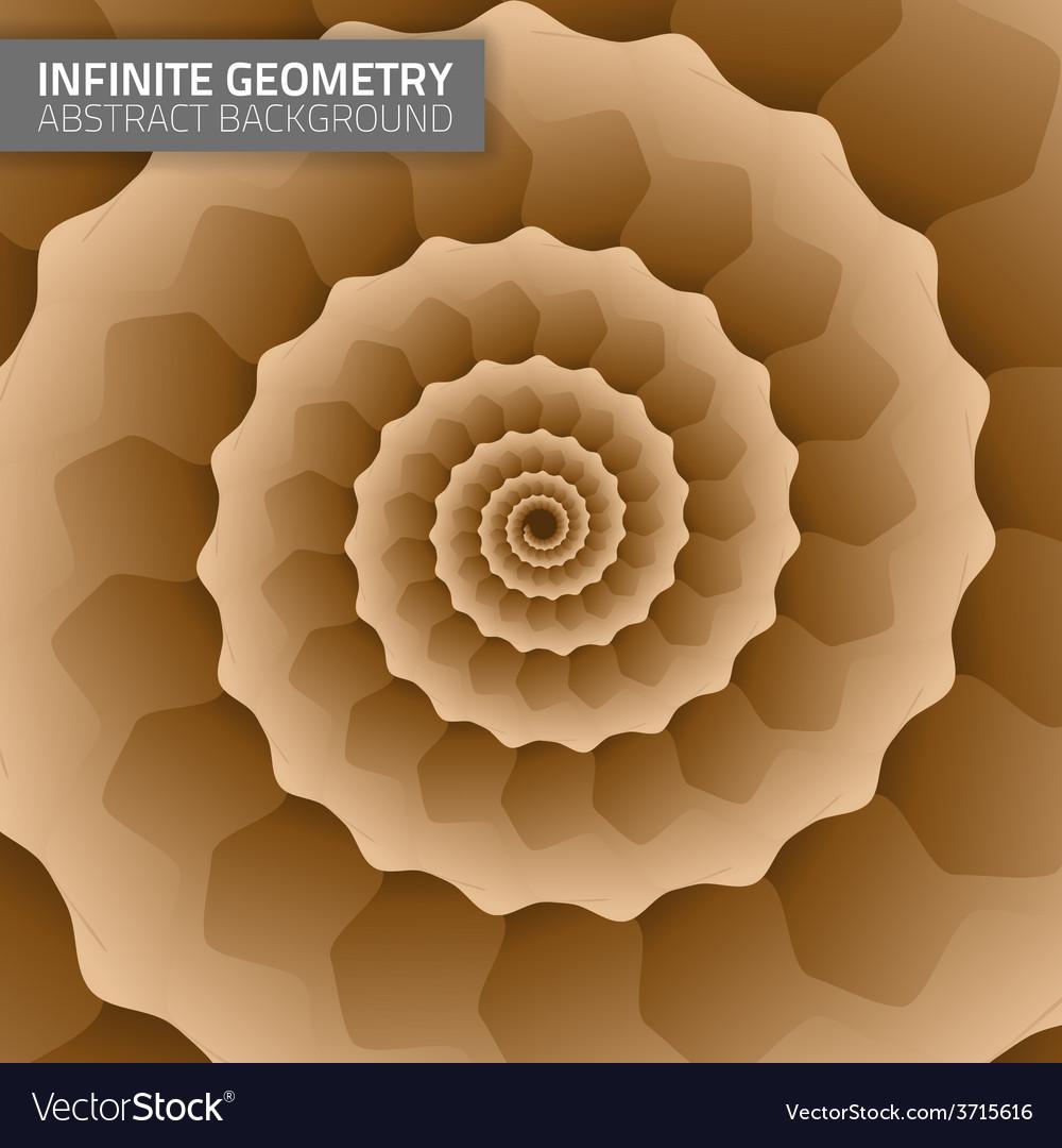 Infinite geometry fractal background vector | Price: 1 Credit (USD $1)