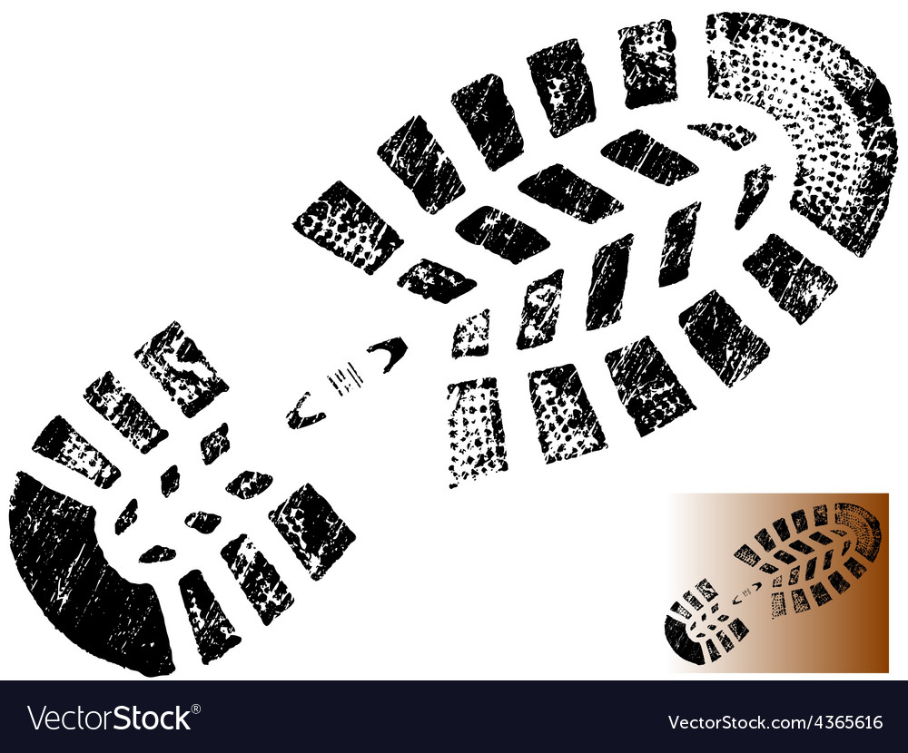 Isolated mountain bootprint - highly detailed vector | Price: 1 Credit (USD $1)