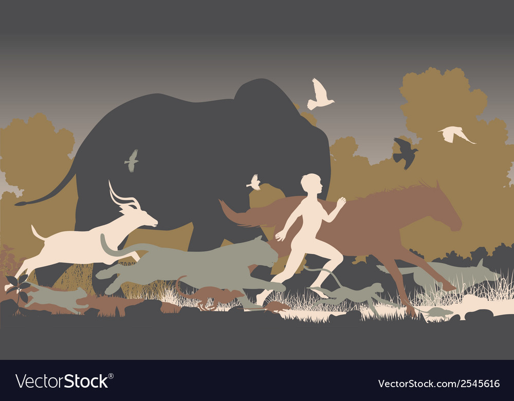 Natural runner vector | Price: 1 Credit (USD $1)