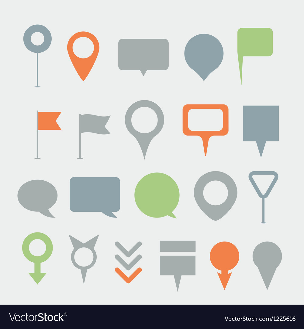 Navigation pins collection vector | Price: 1 Credit (USD $1)