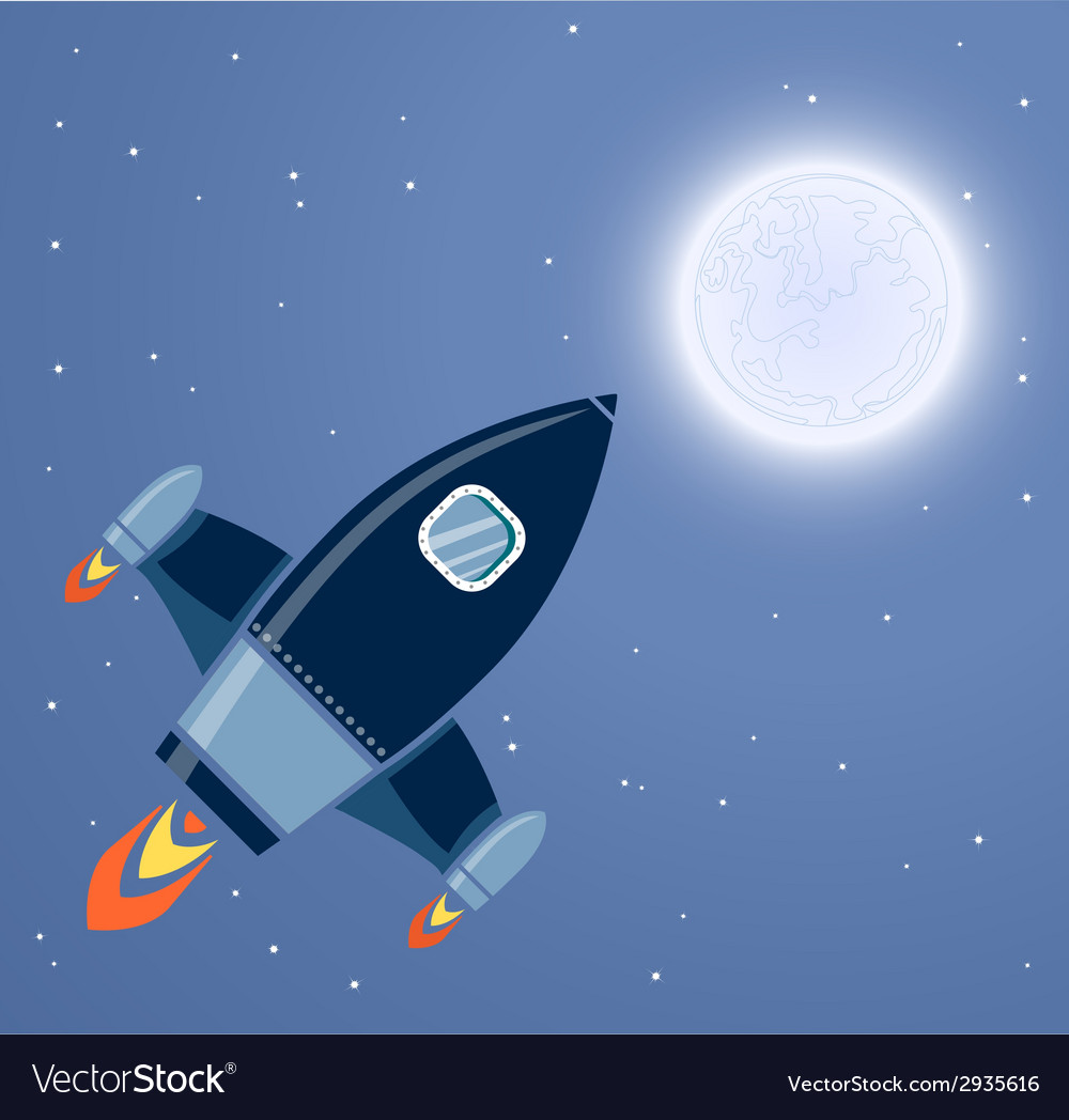 Rocket space vector | Price: 1 Credit (USD $1)