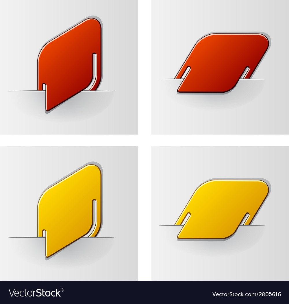 Rounded rhombus attached labels vector | Price: 1 Credit (USD $1)
