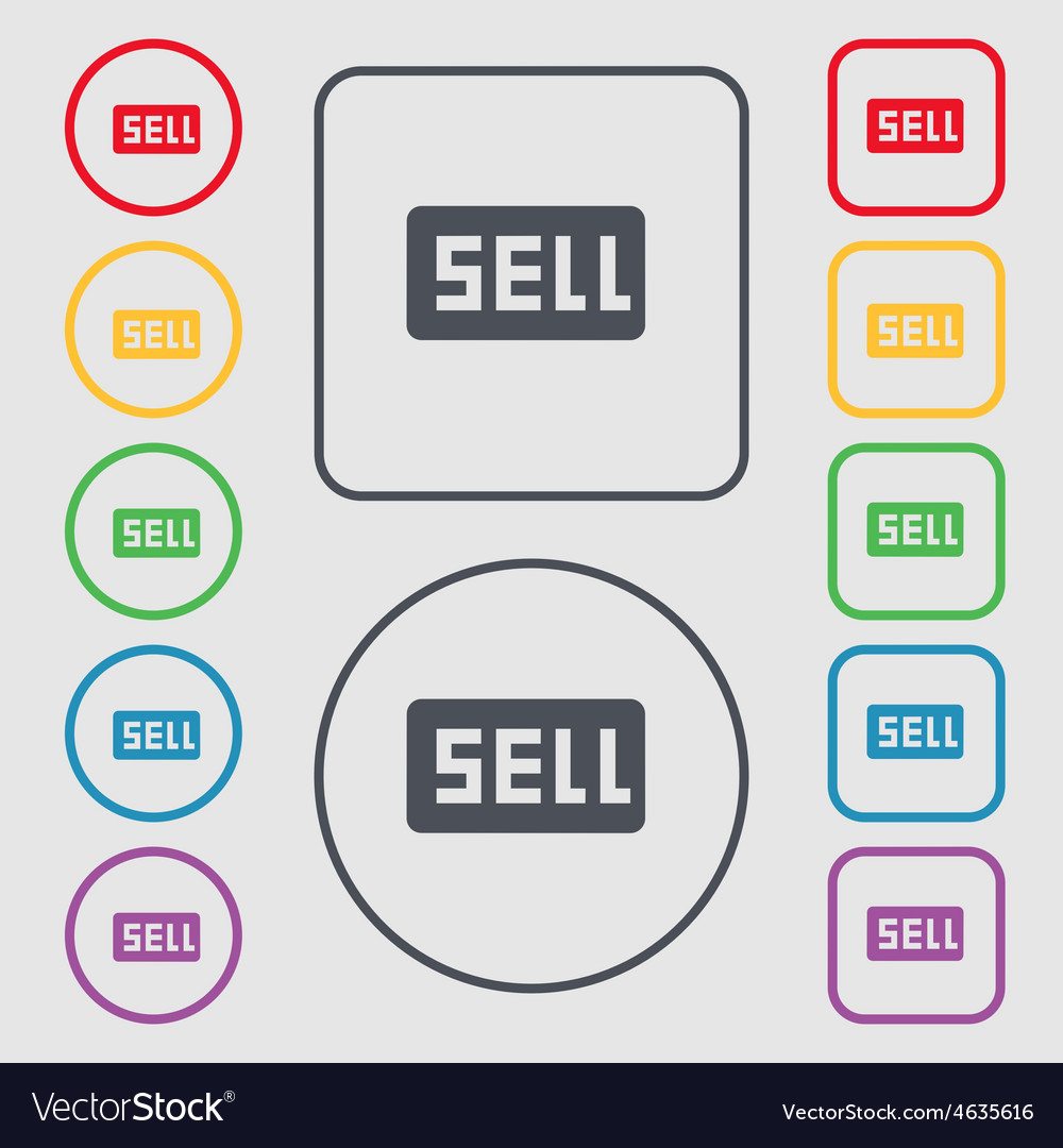 Sell contributor earnings icon sign symbol on the vector | Price: 1 Credit (USD $1)