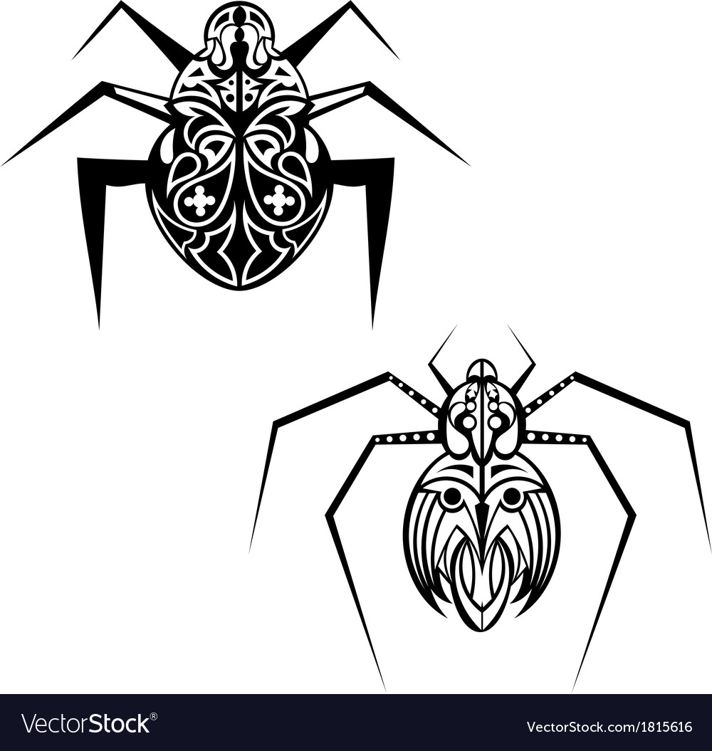 Spider tattoo vector | Price: 1 Credit (USD $1)