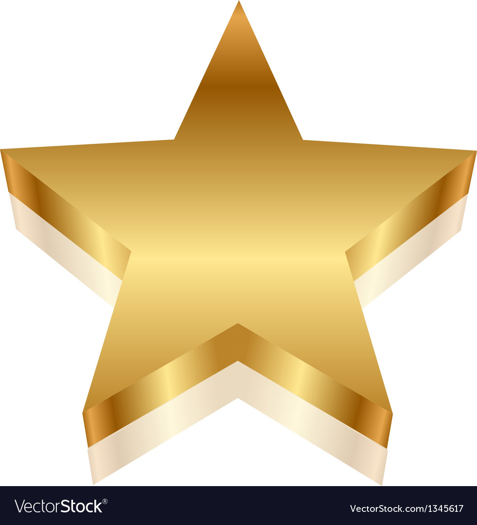 3d of gold star vector | Price: 1 Credit (USD $1)