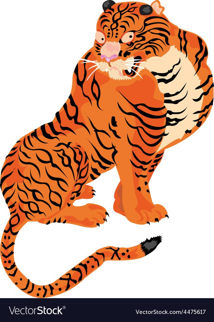 Artistic tiger design vector | Price: 1 Credit (USD $1)